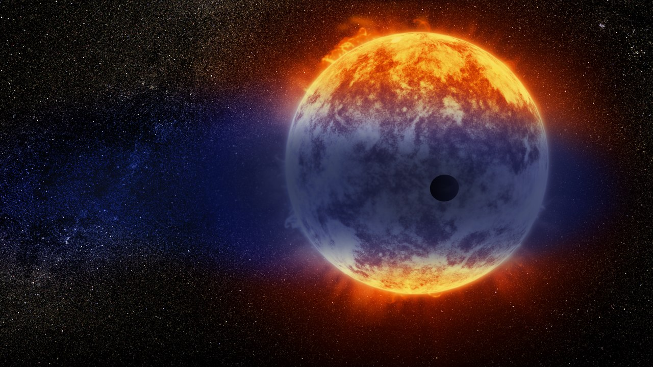 Ein Exoplanet umkreist eine Sonne - Illustration: ESA/Hubble, CC BY 4.0 ( https://creativecommons.org/licenses/by/4.0/legalcode )
